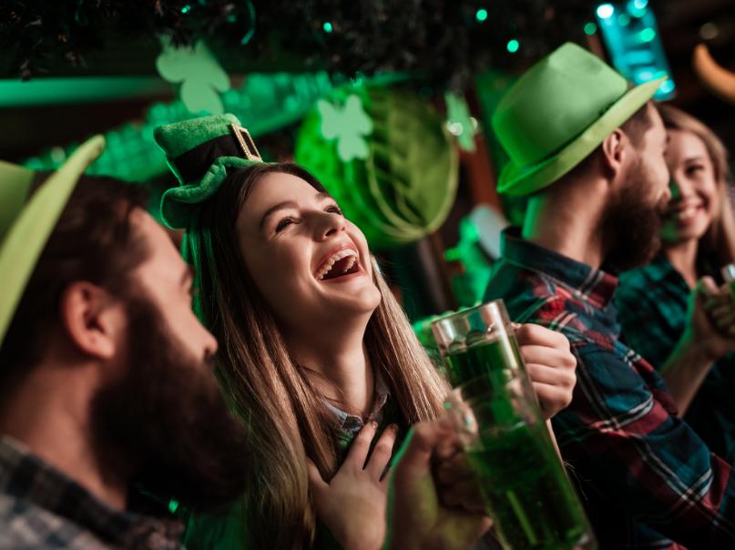 Bar on St Patricks Day