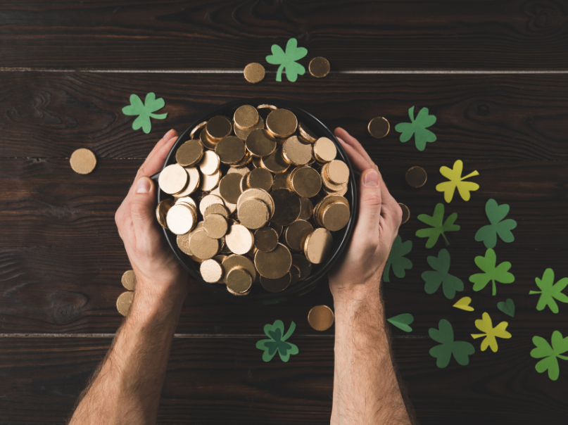 St Patricks Day Gold Coins